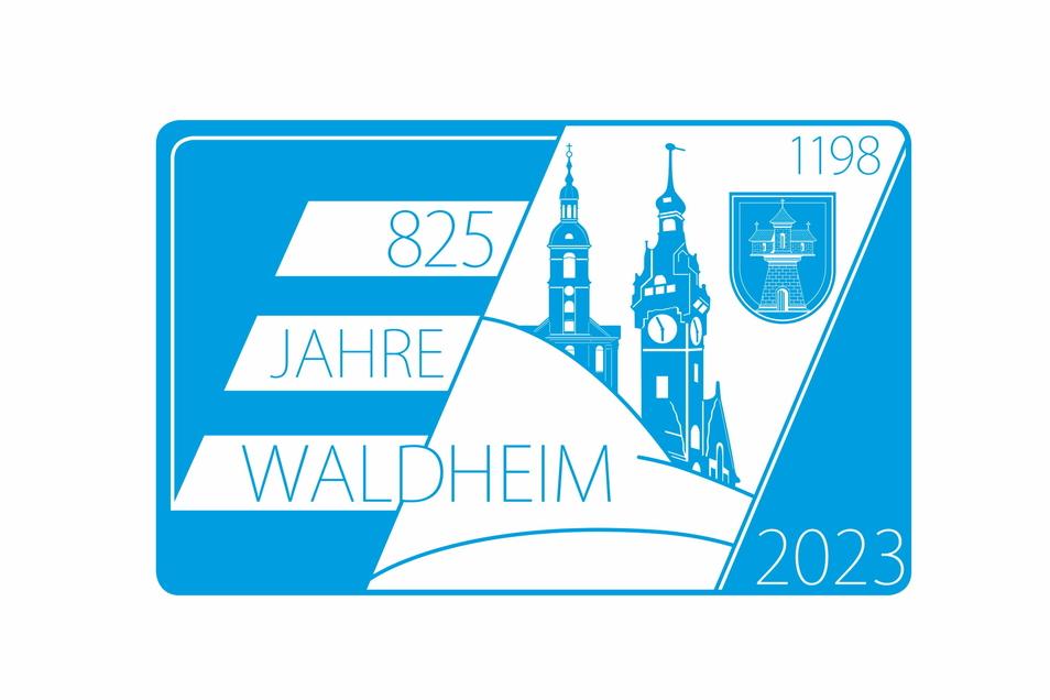 Mit diesem Logo wird Waldheim für das bevorstehende Stadtjubiläum werben.