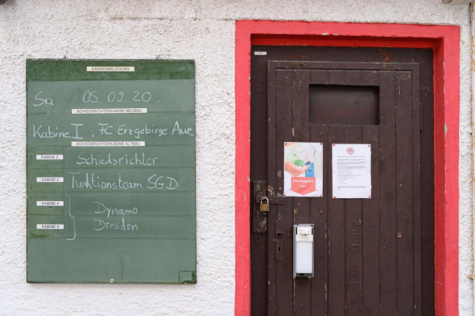 Alles klar geregelt, und das bereits vor dem Anpfiff in Lößnitz. Das Vorbereitungsspiel findet ohne Zuschauer statt.