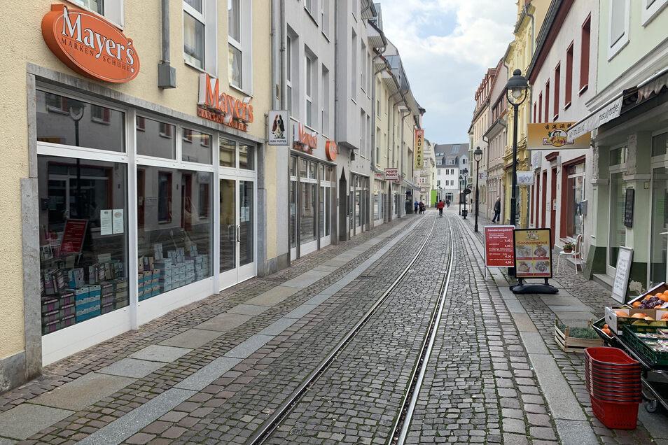 Die Döbelner Innenstadt ist leer, kaum Menschen sind zu sehen.