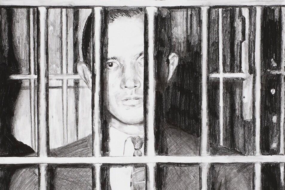 Die Zeichnung von Richard Hauptmann (Ausschnitt) stammt von  dem Künstler Tony Franz. Er hat sie 2013 geschaffen. Sie befindet sich heute in Besitz der Städtischen Sammlungen von Kamenz.
