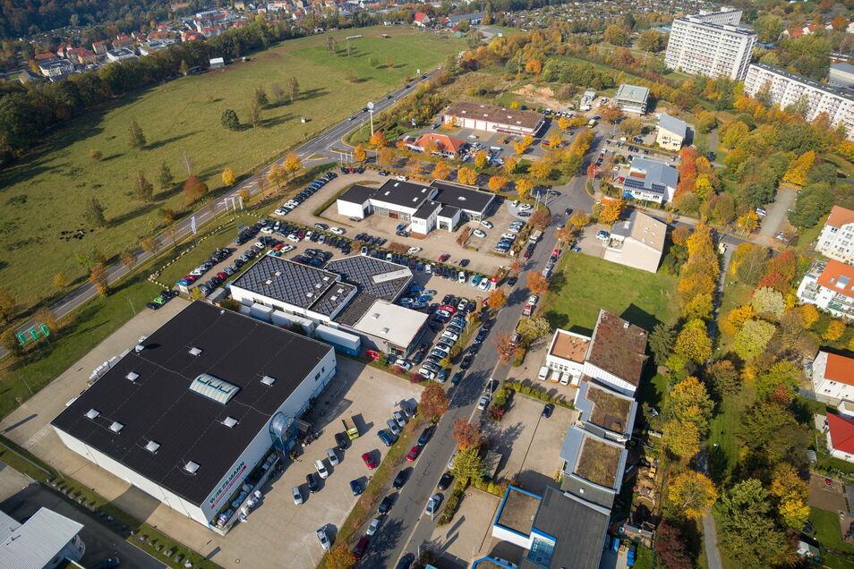 Gewerbegebiet Sonnenstein: Perspektivisch könnte das Areal erweitert werden.