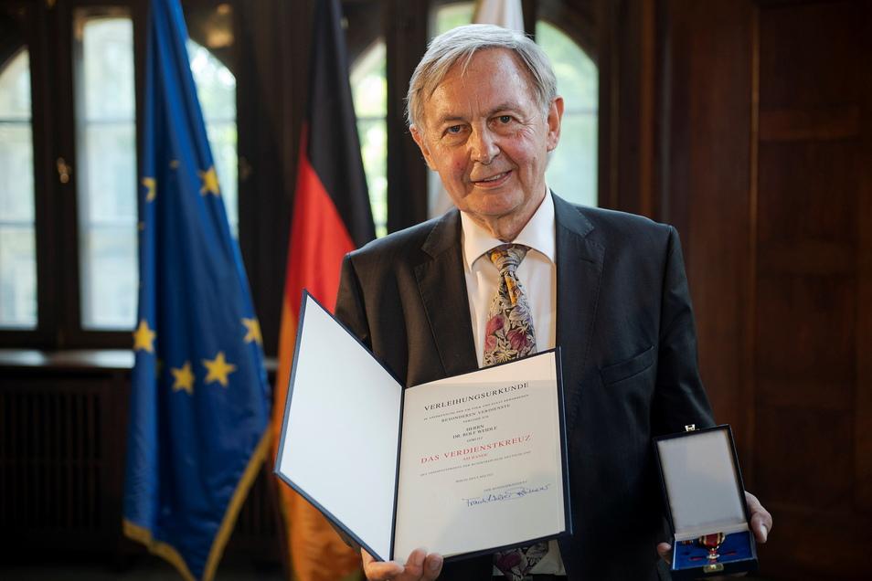 Rolf Weidle bei der Verleihung am Mittwoch.