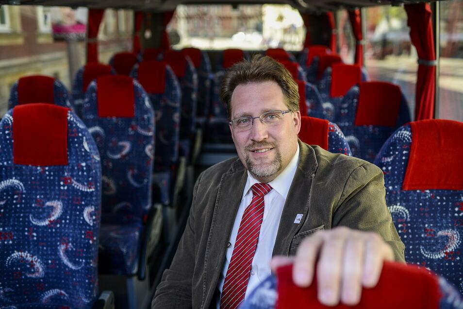 Ingo Menzel betreibt mit dem Stadtschleicher seit fast 20 Jahren Stadtrundfahrten in Görlitz.