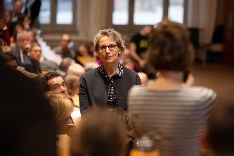 Die Professorin Ursula M. Staudinger kurz nach ihrere Wahl im März zur neuen Chefin von Sachsens größter Uni.