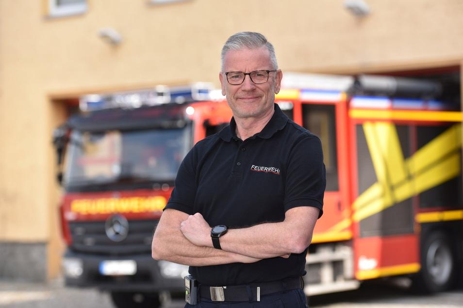Freut sich auf seine neue Aufgabe: Sven Heisig, der neue Stadtwehrleiter in Freital.