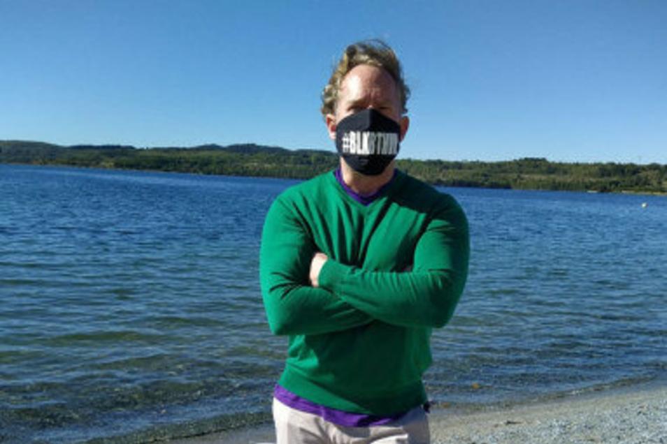 Filmproduzent Michael Simon de Normier vor einigen Tagen am Berzdorfer See.