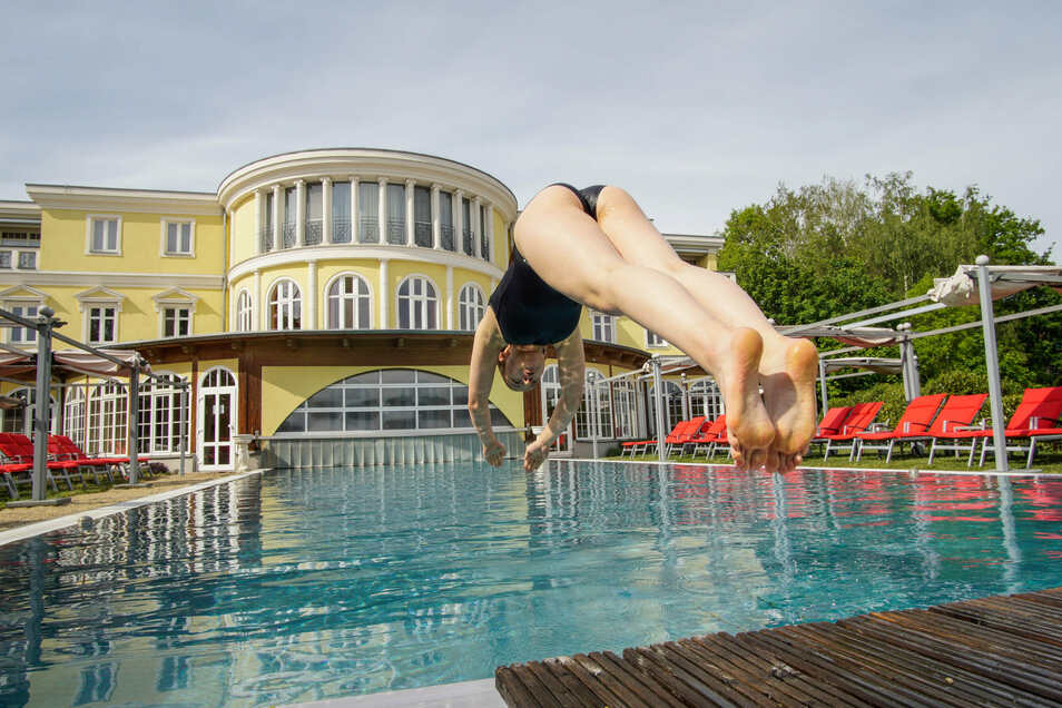 """Einfach mal abtauchen: Im Wellness-Hotel """"Bei Schumann"""" in Kirschau ist das seit einer Woche wieder möglich."""