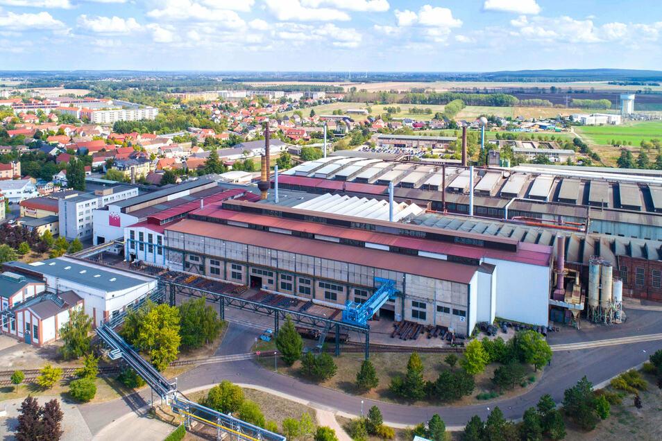 Die Schmiedewerke Gröditz sind mit rund 650 Mitarbeitern einer der größten Arbeitgeber der Region.