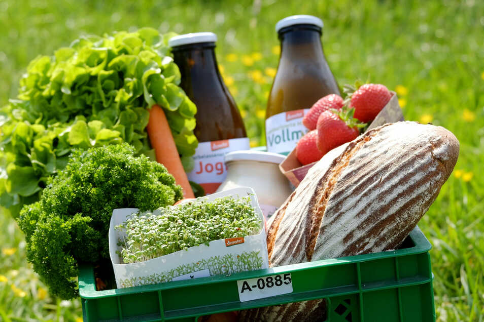Gerade in Corona-Zeiten legen immer mehr Kunden offenbar wert auf ökologisch korrekte Ernährung, zum Beispiel mit der Biokiste aus Mahlitzsch.