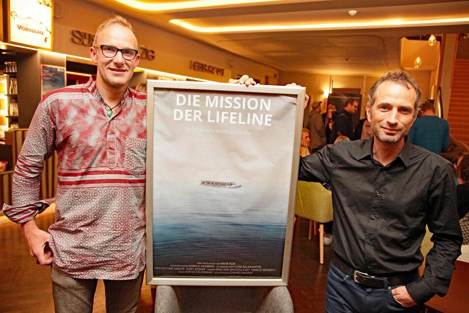 Axel Steier (rechts) sagt, die Angriffe von Pegida wirken, senken die Hemmschwelle auch für andere.