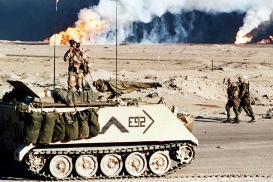 Die Erzählungen von den friedlichen Neunzigern täuschen. Während Europa das Ende des Kalten Krieges feierte, wurden anderswo neue geführt wie hier 1991 im Irak.