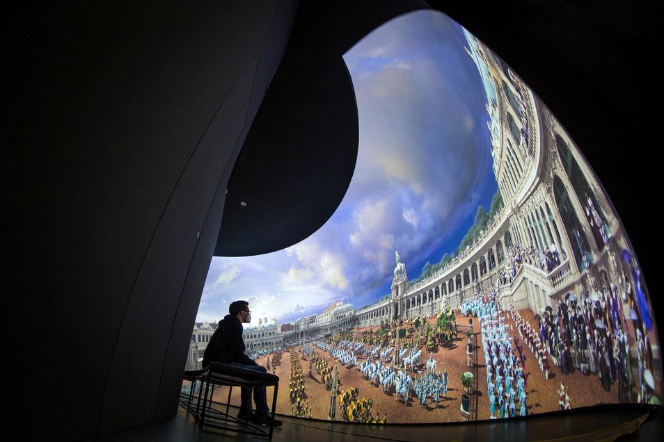 Die Zwinger Xperience ist fast fertig - und bietet Überraschendes. Darunter: Eine virtuelle Fahrradtour.