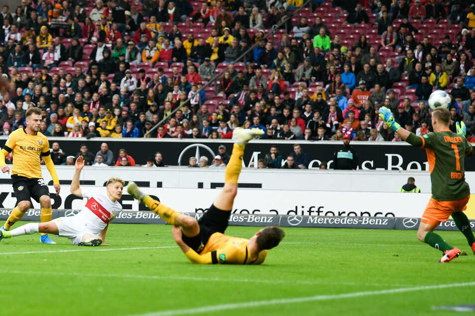 Santiago Ascacibar erzielt das zwischenzeitliche 2:0 für Stuttgart.