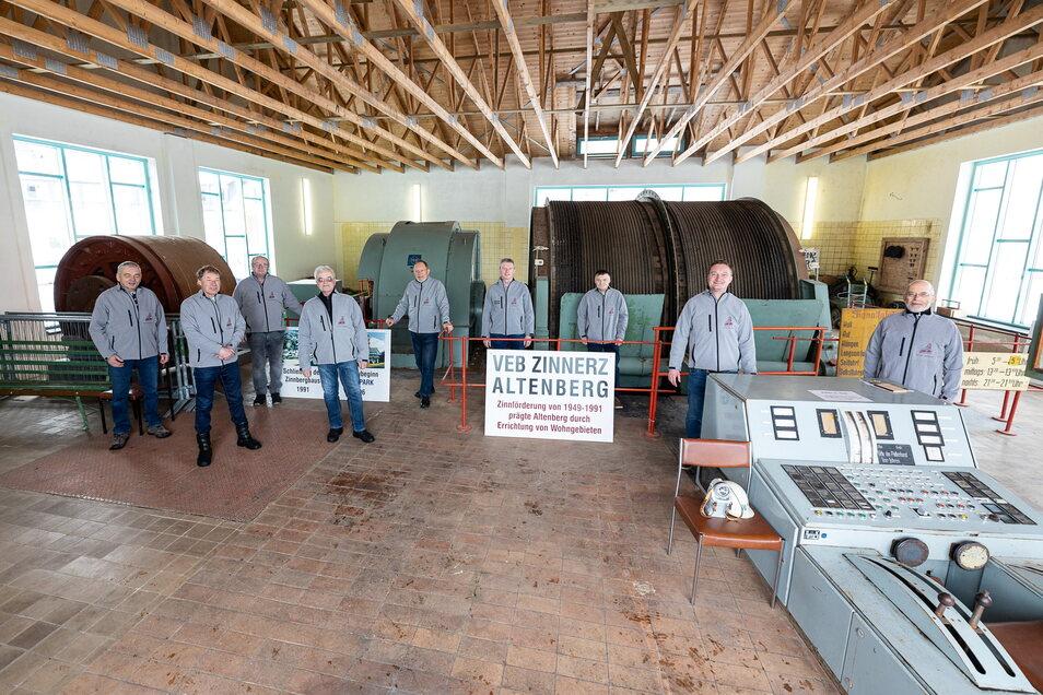 Die Mitglieder der IG AL-Schacht setzten in den Coronamonaten die alte Fördermaschine wieder in Gang.