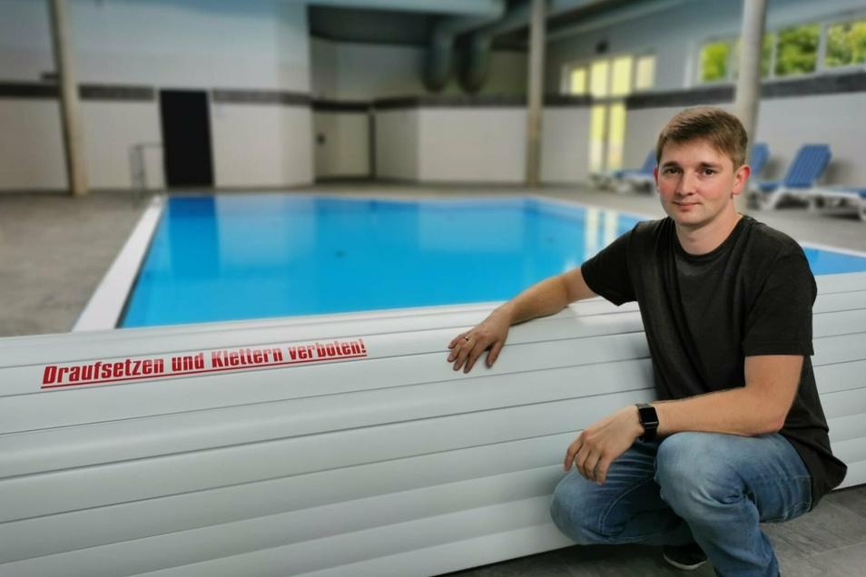 Heiko Wasser hat die Schwimmhalle im Westpark-Center in Zittau komplett umgebaut.