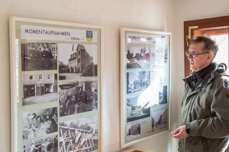 Der Nieskyer Architekt Steffen Radisch in der Ausstellung im Museum Raschkehaus. Sie zeigt Momentaufnahmen aus vier Jahrzehnten Sozialismus in der Stadt.