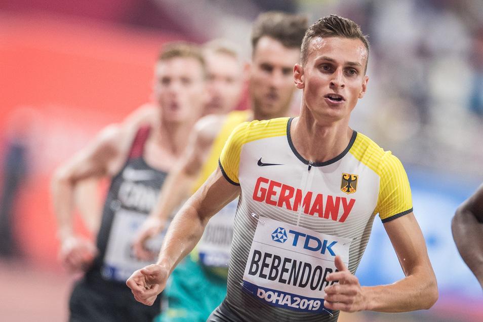 Karl Bebendorf läuft am Sonntag in Dresden.
