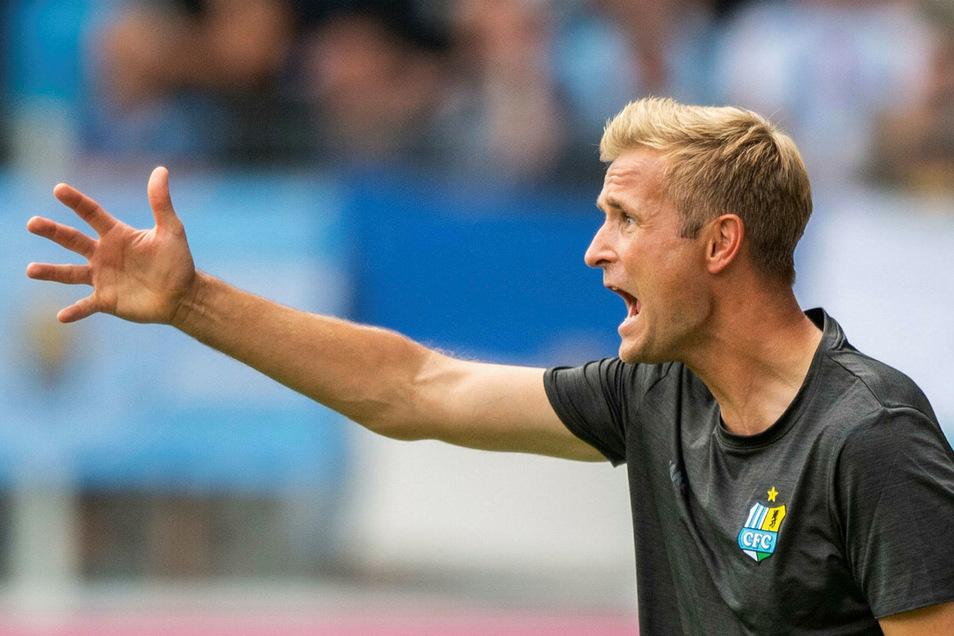 Der Chemnitzer Trainer David Bergner nusste auf zwei wichtige Spieler verzichten.