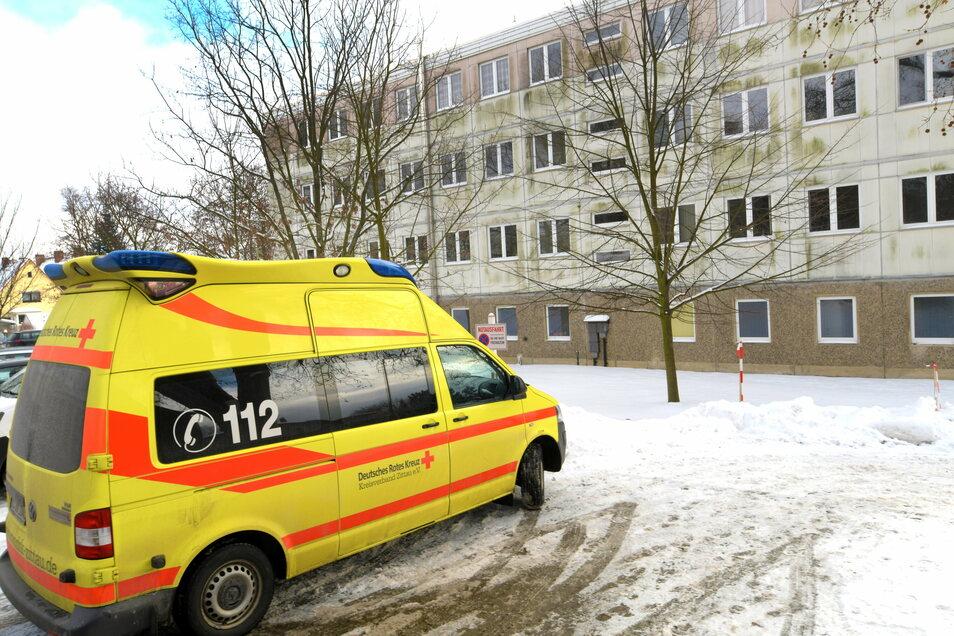 Von der Rettungswache an der Äußeren Weberstraße in Zittau starten die Rettungswagen - noch.