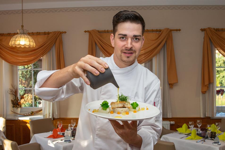 Philipp Haufe kocht im Landhotel & Restaurant zum Erbgericht in Heeselicht.