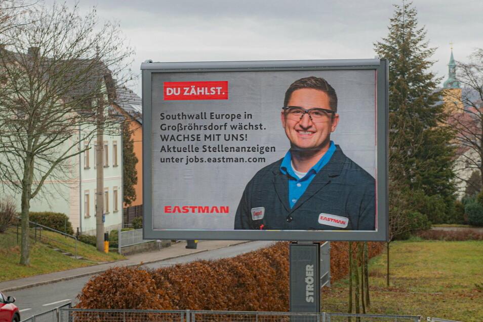 Die Großröhrsdorfer Firma Southwall sucht seit Kurzem sogar mit großflächiger Straßenwerbung nach Mitarbeitern.