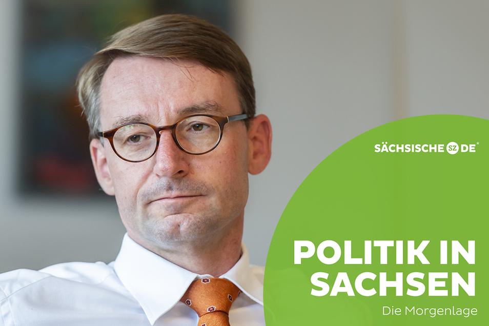 Innenminister Roland Wöller (CDU) spricht sich für einen Ausbau des Katastrophenschutzes aus.