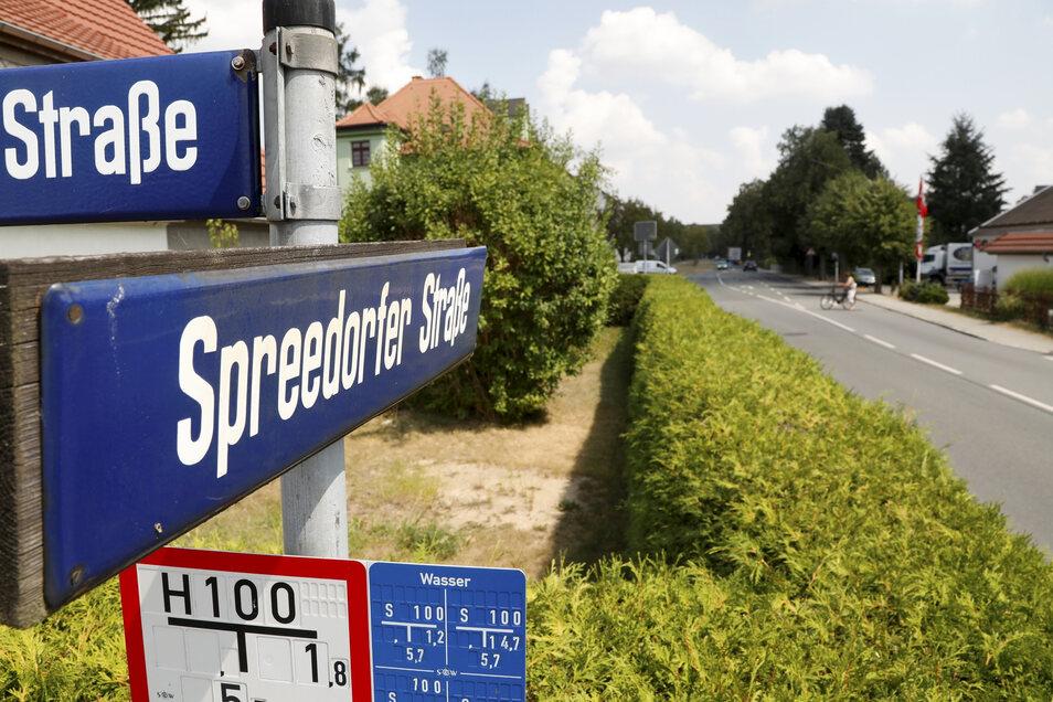 Noch keine freie Durchfahrt gibt es an der Spreedorfer Straße.