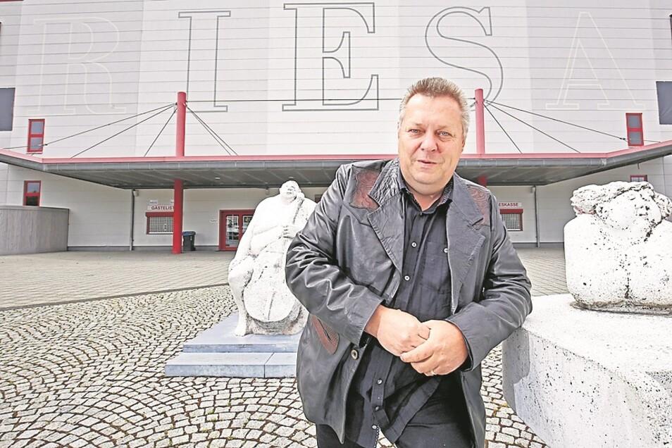 Der ehemalige Oberbürgermeister Wolfram Köhler holte Sportevents nach Riesa, um die Olympiabewerbung anzukurbeln,
