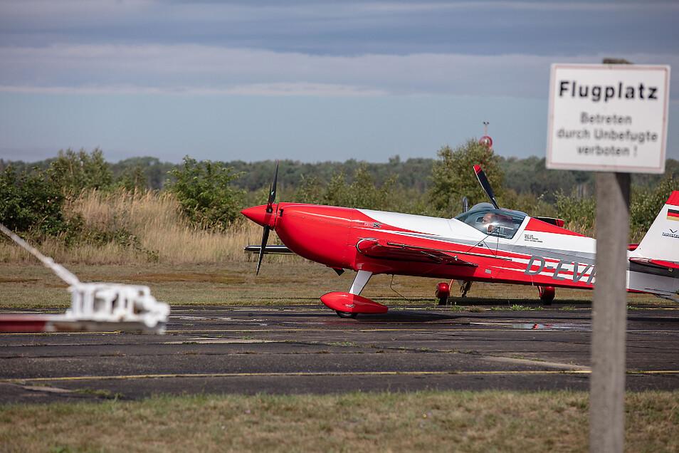 Kunstflugpiloten waren zum Training in Welzow.