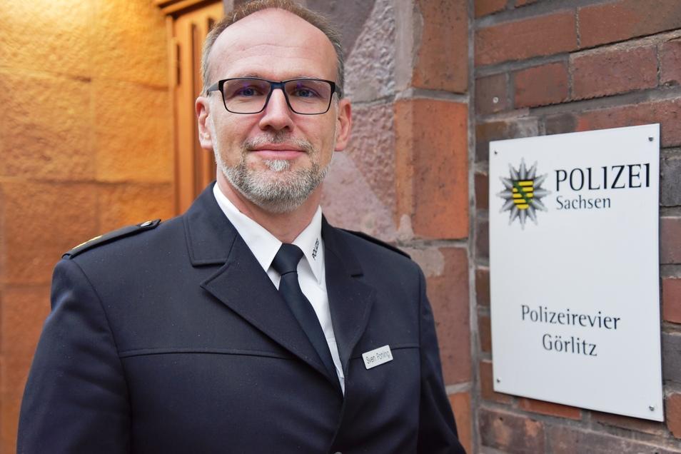 Sven Pohling hat als Streifenbeamter im Polizeirevier Zittau angefangen. Nun leitet er das Görlitzer.
