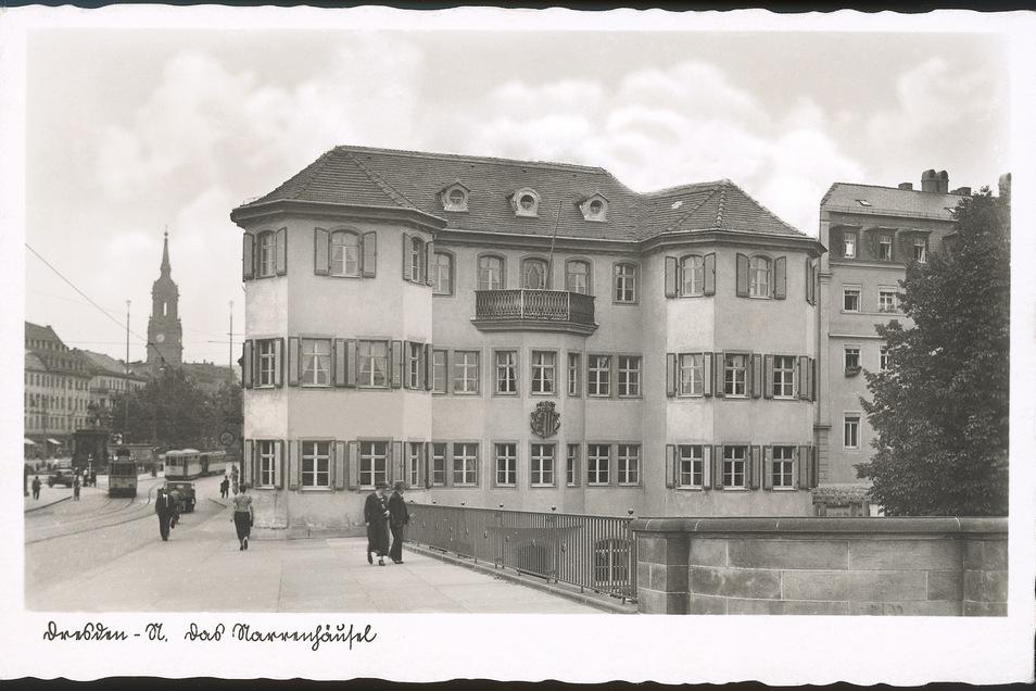 Eine historische Postkarte zeigt das Narrenhäusel um 1938.