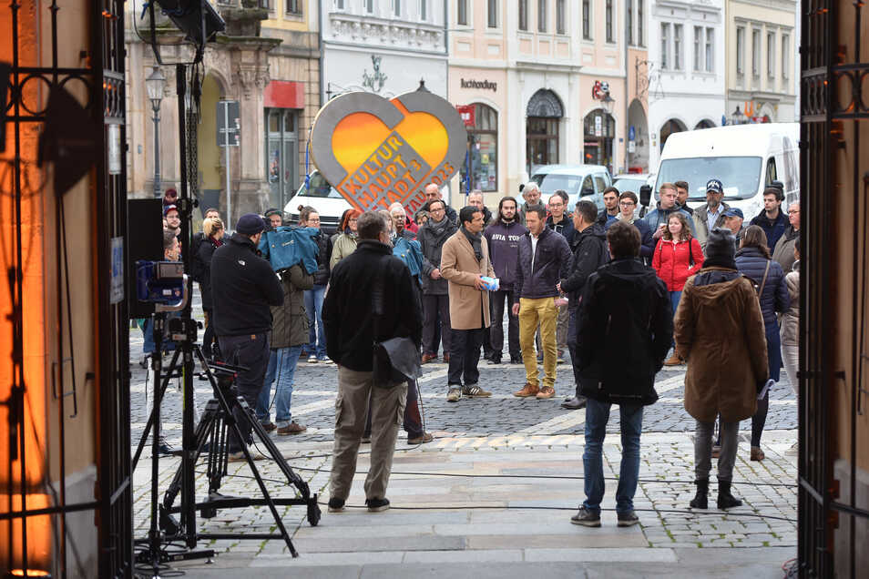 Herzig: Immer gut im Fernsehbid: Das Kulturherz für die Bewerbung der Stadt zur Kulturhauptstadt Europas.