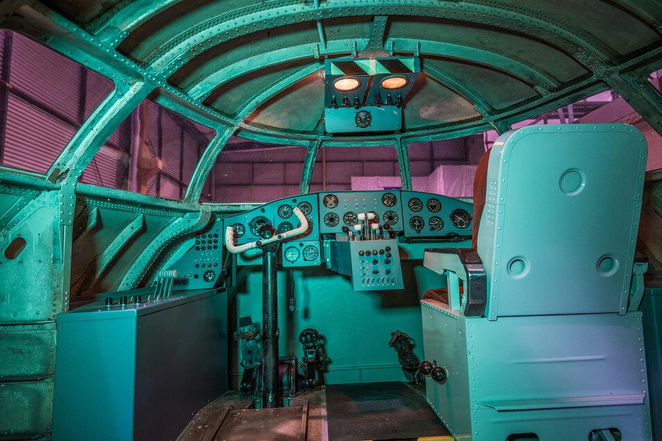 Das Cockpit ist erhalten. Foto: Th. Kretschel