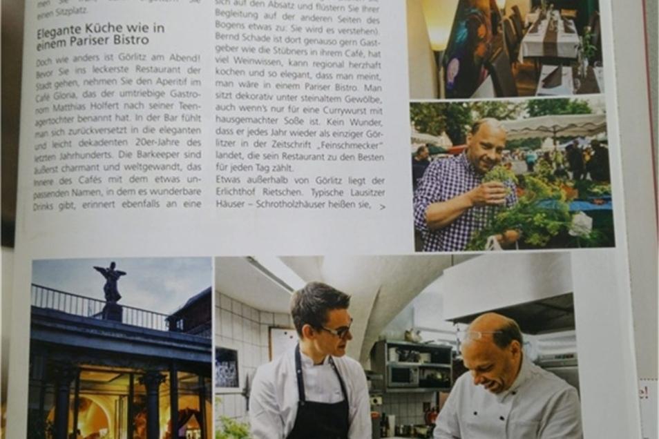"""In der aktuellen Ausgabe der Illustrierten """"Meine gute Landküche"""" kommt Görlitz ganz groß raus. Neben den Erfahrungen der Ex- Landskron-Chefin gibt es regionale Rezepte. Repro: SZ"""