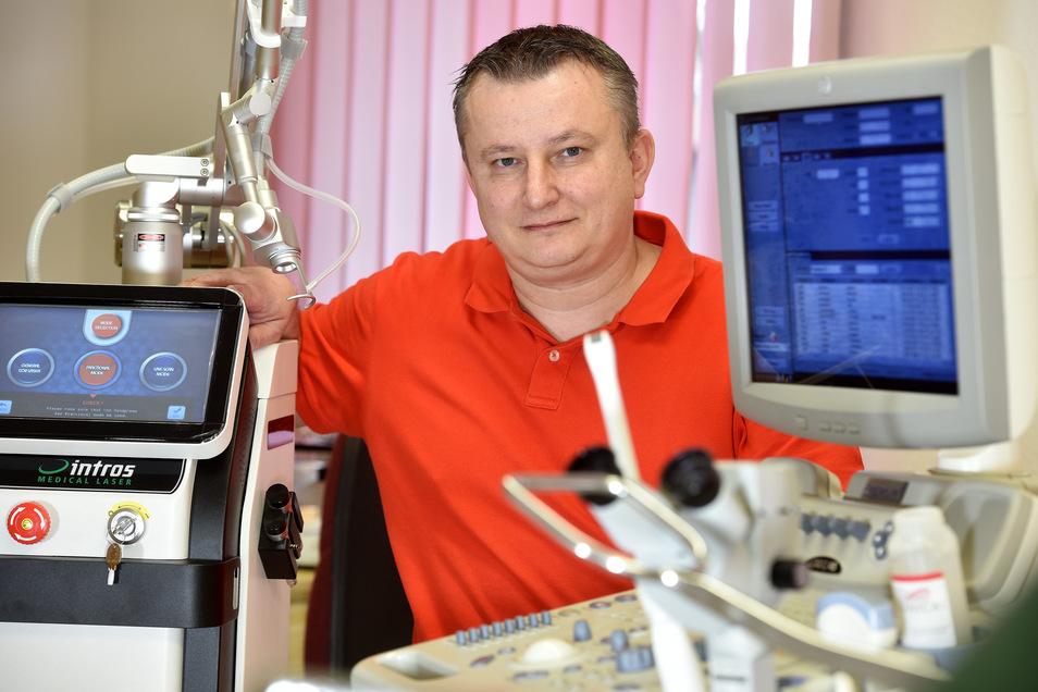Dr. Milan Sedlak aus Liberec ist Facharzt für Frauenheilkunde und praktiziert seit einem Jahr in Großschönau.