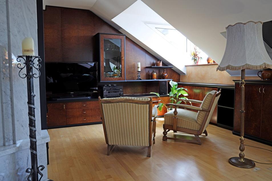 Ein Blick in die Suite unterm Dach - wo schon Roland Kaiser genächtigt hat.