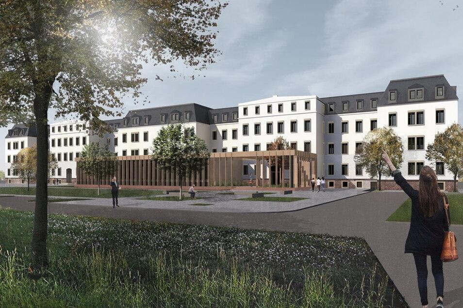 Die Animation des Landesrechnungshofes stellte das Architekturbüro Eßmann/Gärtner/Nieper Architekten GbR Leipzig zur Verfügung.
