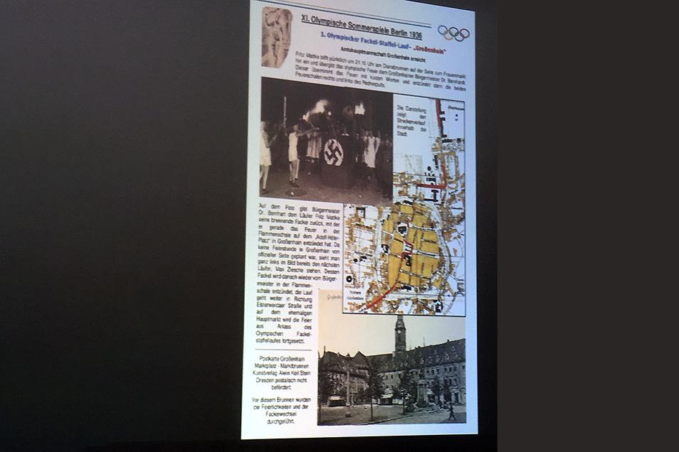 Der olympische Fackellauf 1936 erreichte Großenhain.