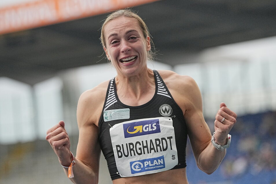 Alexandra Burghardt lief am schnellsten. Sie ist die deutsche Meisterin über 100 und 200 Meter.