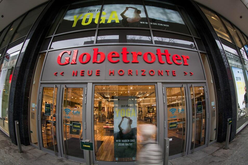 Im Dresdner Clobetrotter-Haus auf der Prager Straße sollen künftig auch Fahrräder angeboten werden.