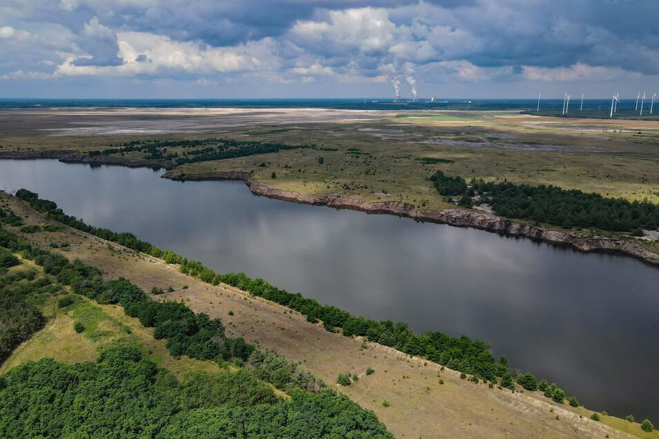 Cottbus: Der Rand eines ehemaligen Braunkohletagebaus und zukünftigen Cottbuser Ostsee.