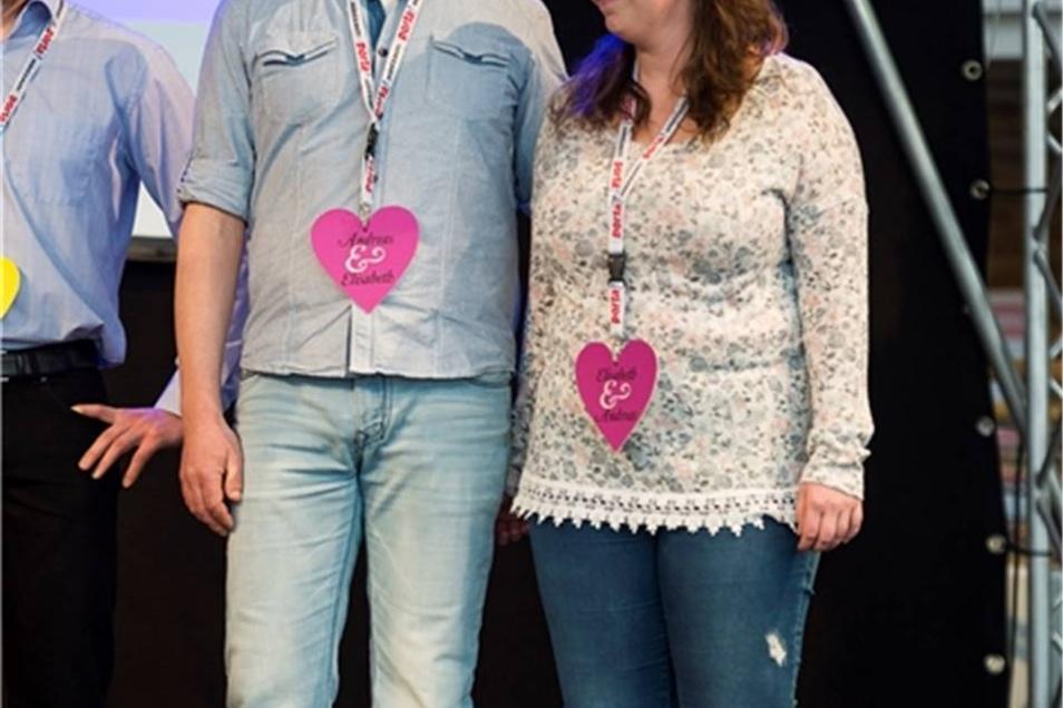 Ein Höhepunkt war das Spiel der Brautpaare um eine Kurzreise. Andreas und Elisabeth landeten knapp auf dem zweiten Platz.
