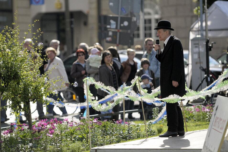 Der Stadthistoriker als Chronist der Gründerzeit moderierte auch das Muschelminnafest des Aktionskreises für Görlitz.