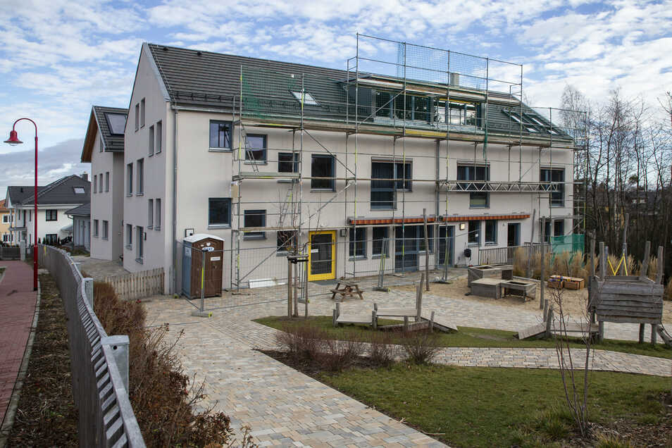 In der Kita Kirschallee in Bannewitz werden im Dachgeschoss neue Betreuungsplätze geschaffen.