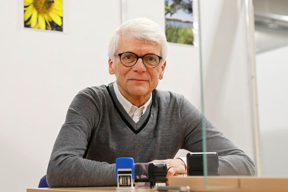 Dr. Hans-Christian Gottschalk im Impfzentrum Löbau. Er ist Mitglied der Sächsischen Impfkommission.