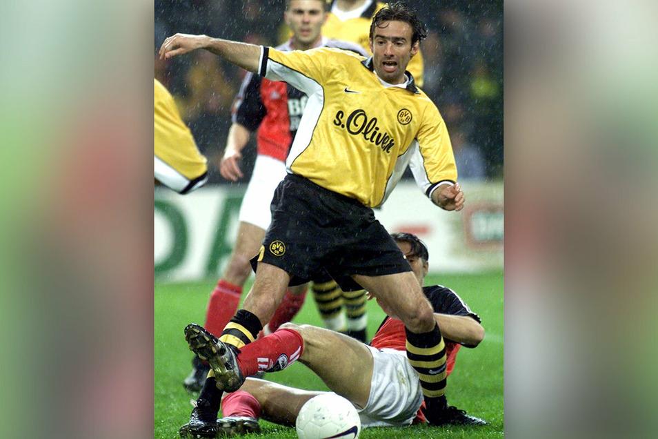 Mit Borussia Dortmund wurde Miroslav Stevic (vorn) 2002 deutscher Meister. Sein Trainer: der Dresdner und Ex-Dynamo Matthias Sammer.