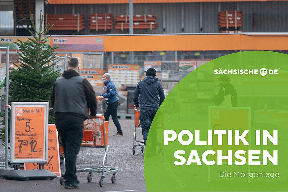 Baumärkte können in Sachsen ab Montag wieder öffnen.