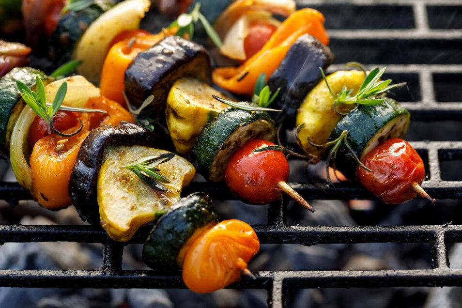 Gemüsespieße vom Grill.