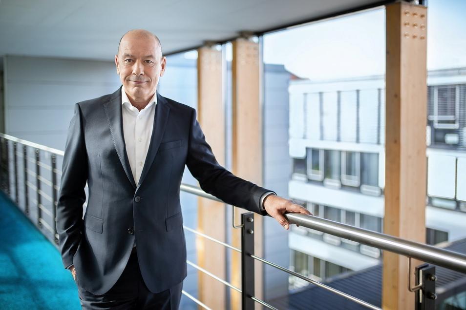 Ingenieur im wachsenden Markt mit schnellem Datenaustausch: Stephan Drescher, Geschäftsführer der Envia-Tel in Markkleeberg.