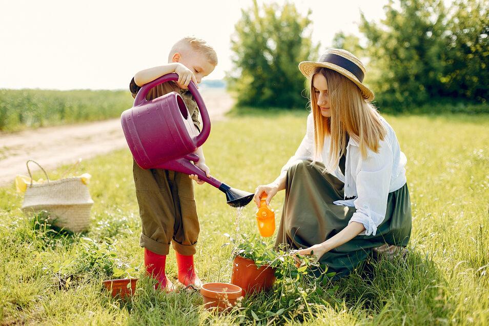 Der Familiengarten: Abenteuer für Kinder und Entspannung für Eltern.